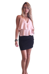 Blush V-Neck, Crossover Top from Americas Hottest Brand! Blush Pink.
