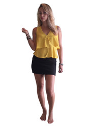 Mustard V-Neck, Crossover Top from Americas Hottest Brand! Mustard Yellow.