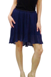 Navy Blue Accordion Pleat Skirt from FREEBIRD!