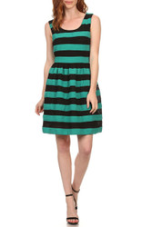 Fully Lined Boutique Dress from Lucy Paris! Green with Black.