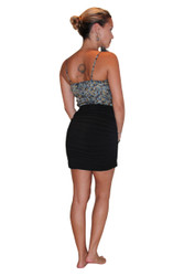 Asymmetrical Dress With Black Bodycon Skirt!