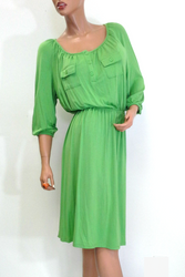 PLUS SIZE Long Sleeve Dress is Long & Ultra-Soft with Two Chest Pockets! From Faded Glory!