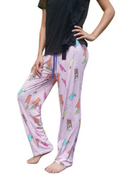 $35 Tags! 50% Cotton Pajama Pants! Pink with Champagne & Cocktails!