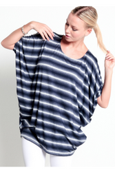 Blue Stripe Dolman Top!