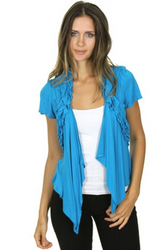 Major Brand Flyaway, Open Cardigan! Turquoise Blue. From MOA MOA!