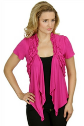 Major Brand Flyaway, Open Cardigan! Fuchsia Pink. From MOA MOA!