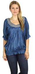 PLUS SIZE Blue Half Sleeve Top from JAJA & CO!