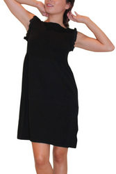 Boutique Black Dress is 100% Cotton and Amazing Quality!