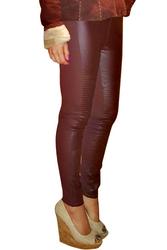 Deep Brown, Burgundy Vegan Leather Pants!
