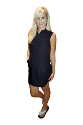 Classic Cotton Shirt Dress! Black. From Casting L.A.!
