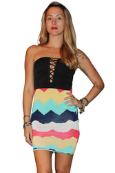 Strapless Dress with Peek-a-Boo Peasant Lace Chest from KTOO!