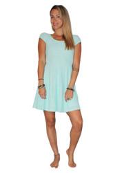 Mint Lace Dress with Cutout Back!