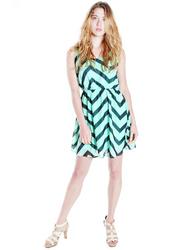 Mint Chevron Striped Dress from FEMME!