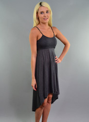 95% Rayon Crochet Dress in Charcoal Grey from KELLY & CHY!