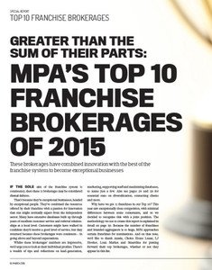 2015 Top 10 Franchise Brokerages (soft copy only)
