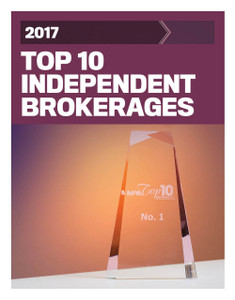 2017 Top 10 Independent Brokerages (available for immediate download)