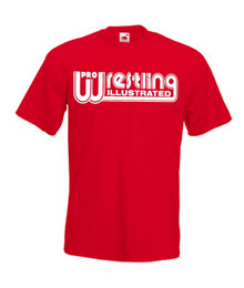 Mens red Pro Wrestling Illustrated T Shirt