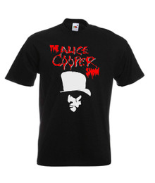 Mens black Alice Cooper Show Classic Rock Music T Shirt