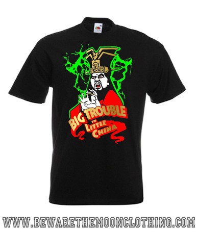 Mens black Lopan Big Trouble In Little China 80s Movie T Shirt
