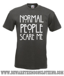 Mens graphite Normal People Scare Me American Horror Story T Shirt