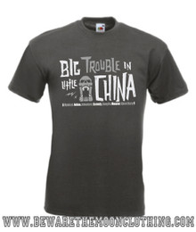 Mens graphite Big Trouble In Little China 80s Movie T Shirt