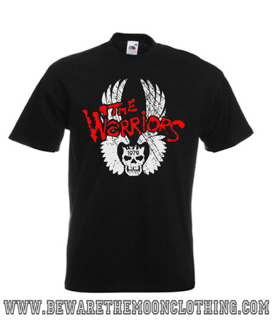 Mens black The Warriors Cult Movie T Shirt