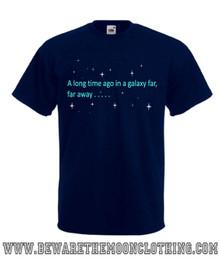 Mens navy Star Wars A Galaxy Far Far Away Movie T shirt