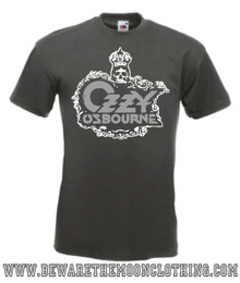 Mens graphite Ozzy Osbourne Rock Music T Shirt