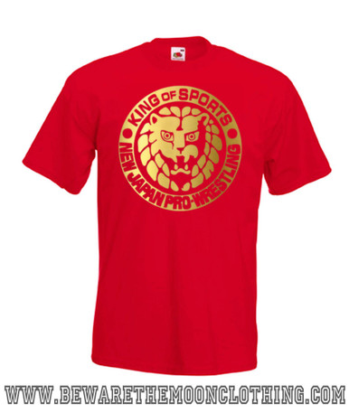 Mens red All Japan Pro Wrestling T Shirt