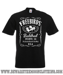 Mens black Fabulous Freebirds Jack Daniels Wrestling T Shirt
