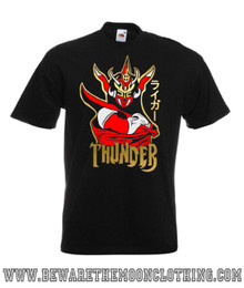 Mens Jushin Thunder Liger Japanese Wrestling Legend design on a black Super Premium Fruit Of The Loom T Shirt