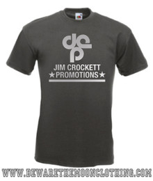 Mens graphite Jim Crockett Promotions NWA Wrestling T Shirt