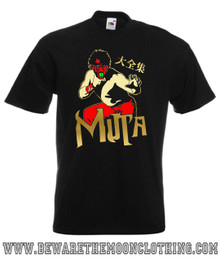 Mens black Great Muta Japanese Wrestling T Shirt