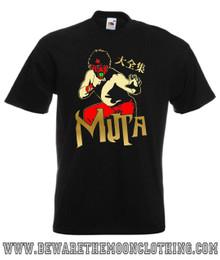 Mens black Great Muta Japanese Wrestling T Shirt