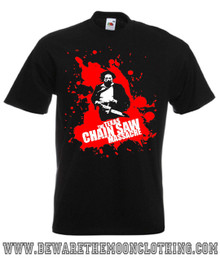 Mens black Texas Chainsaw Massacre Horror Movie T Shirt