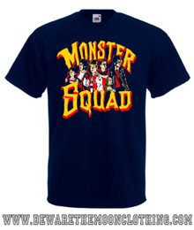 Mens navy Monster Squad 80s Movie T Shirt