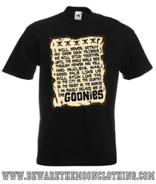 Mens black Goonies Oath 80s Movie T Shirt