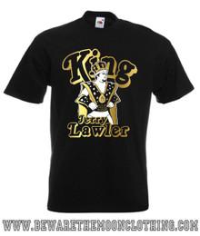 Mens Black Jerry The King Lawler Wrestling Legend T Shirt