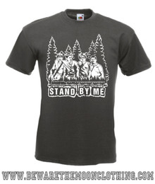 Mens graphite Stand By Me 80s Movie T Shirt