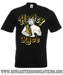 Mens Black Harley Race Wrestling Legend T Shirt