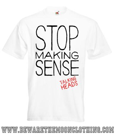 Mens White Stop Making Sense Talking Heads Music T Shirt