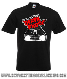 Mens Black Death Proof Movie T Shirt