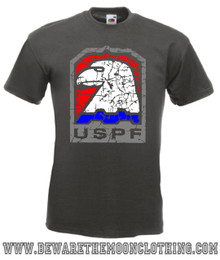 Mens Graphite Escape From New York USPF Movie T Shirt