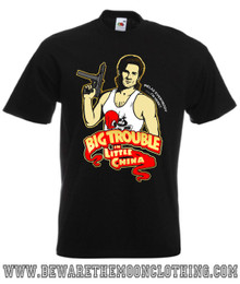 Mens Black Jack Burton Big Trouble In Little China Movie T shirt