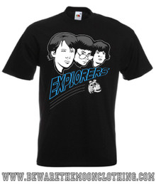 Mens black Explorers T shirt