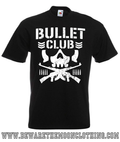 Mens Black Bullet Club New Japan Pro Wrestling T Shirt