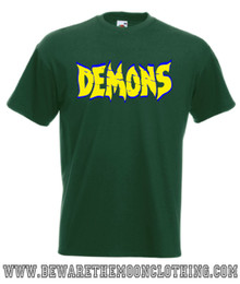 Demons mens bottle green classic retro 80s horror movie T Shirt