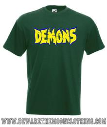 Demons mens bottle green classic retro 80s horror movie T Shirt