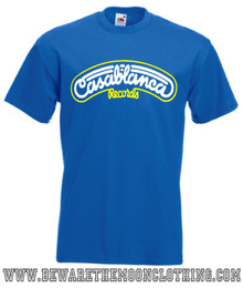 Casablanca Records mens royal blue retro music T Shirt