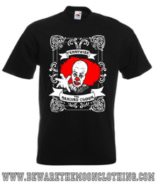 Pennywise The Dancing Clown IT Movie mens black horror T Shirt